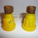 Желтые держатели ребристые (новые) и гладкие (старого образца)