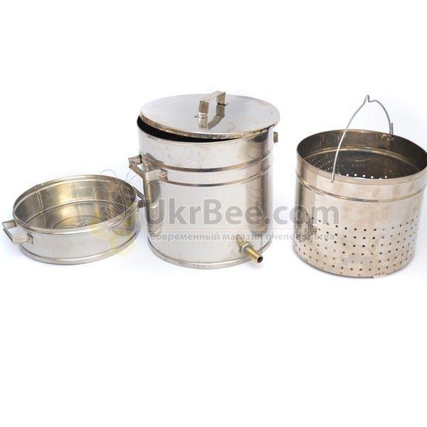 Воскотопка из нержавеющей стали (12 литров) (мал 4)