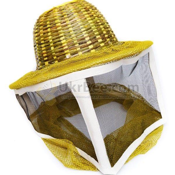 Шапка бджоляра з металевою сіткою, капелюх бамбук (мал 1)