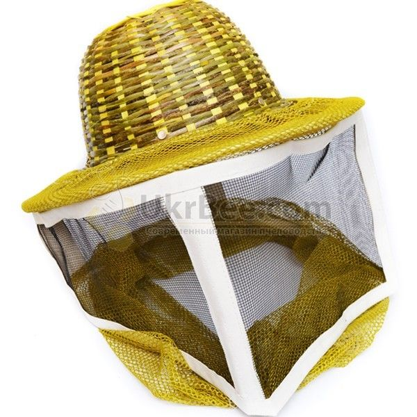 Шляпа пчеловода с металлической сеткой (верх - бамбук) (рис 1)