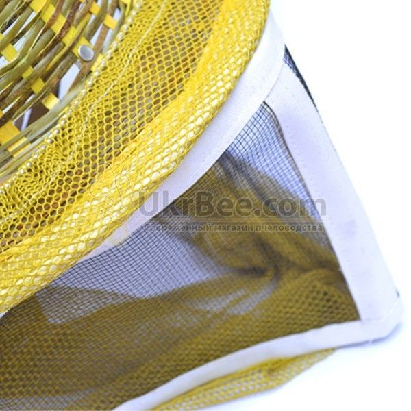 Шапка бджоляра з металевою сіткою, капелюх бамбук (мал 4)