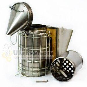 Дымарь из черной стали + защита от ожогов, рис.