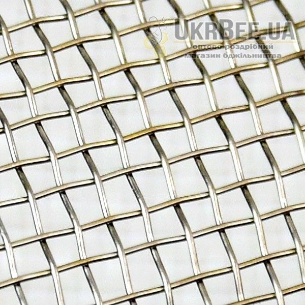 Сітка ткана з нержавіючого дроту 2,5х2,5мм*0,5мм (1х1м)