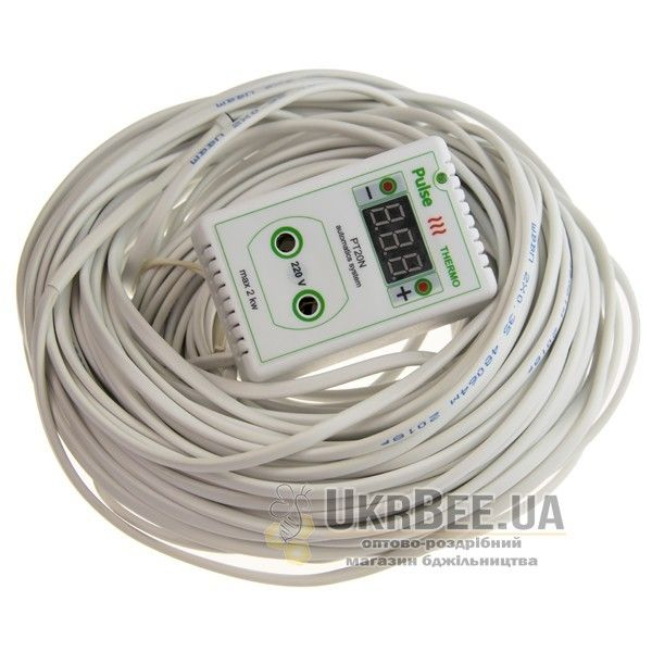 Терморегулятор для обогревателя улья розеточный цифровой Pulse PT20N (рис 1)