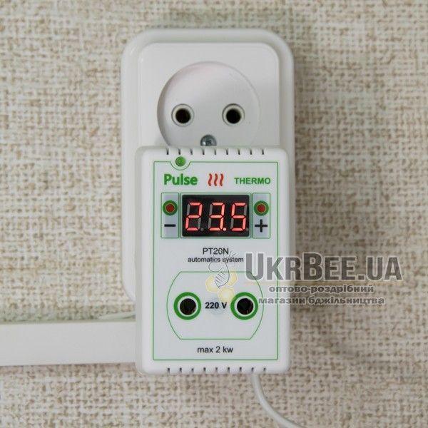 Терморегулятор для обогревателя улья розеточный цифровой Pulse PT20N (рис 4)