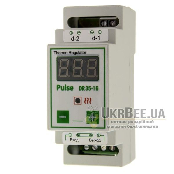 Терморегулятор для обігрівача вулика цифровий Pulse DR35-16 (мал 2)