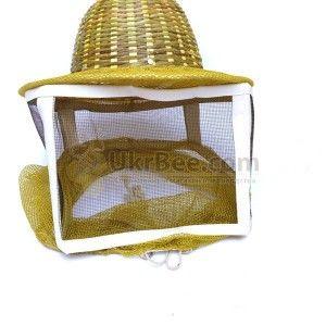Маска пчеловода с металлической сеткой, шляпа бамбук (рис 2)