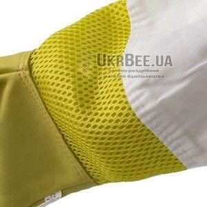 """Рукавиці бджоляра жовті з вентиляцією """"Air-Premium"""" (шкіра+сітка) мал. 4"""