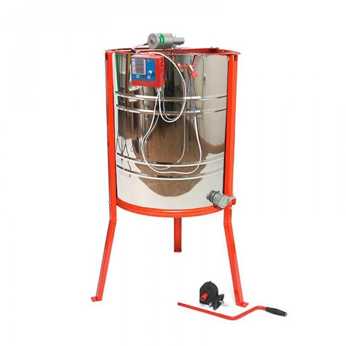 Медогонка 4-х рамочная с электроприв, нержавейка, рис. 1