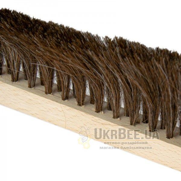 Щетка 2-х рядная, натуральная (ручка дерево), рис. 1