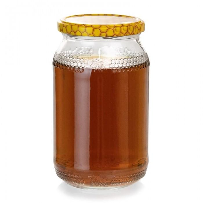 Банка стеклянная для меда 900 мл (с крышкой), рис. 1