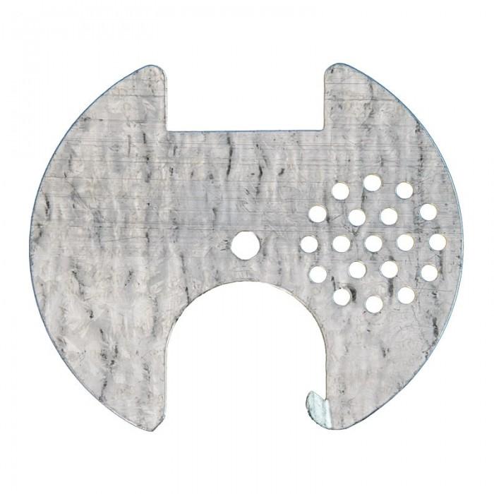 Льотковий загороджувач круглий. Оцинковка, Ø70 мм (мал 1)