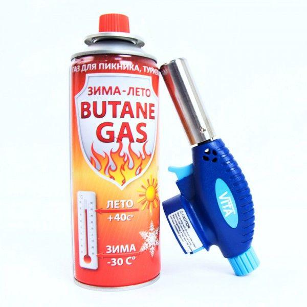 Газовая горелка с пьезоподжигом + баллон (Рисунок 1)