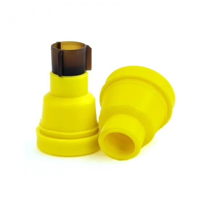 Желтые держатели Джентер гладкие (рис 1)