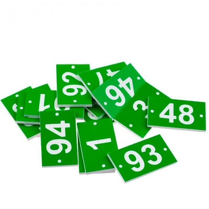 Номерки для вуликів великі (100 шт), ПВХ мал. 1