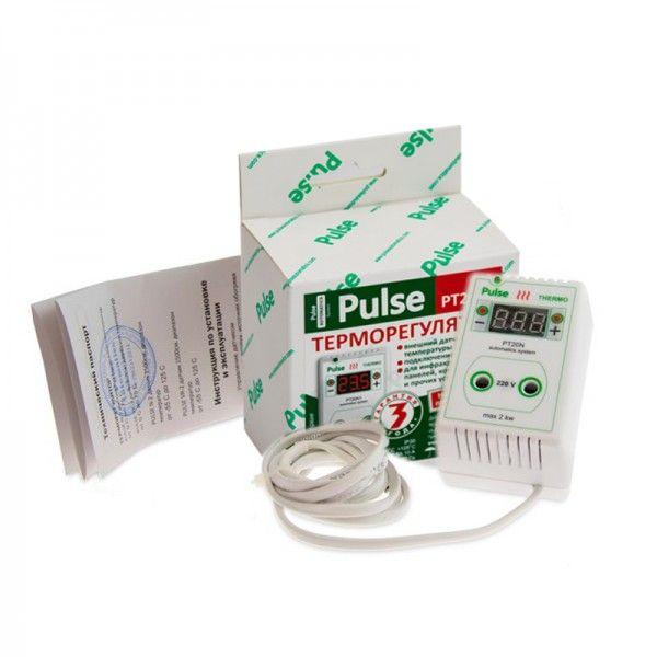 Терморегулятор для обогревателя улья розеточный цифровой Pulse PT20N2 (рис 1)