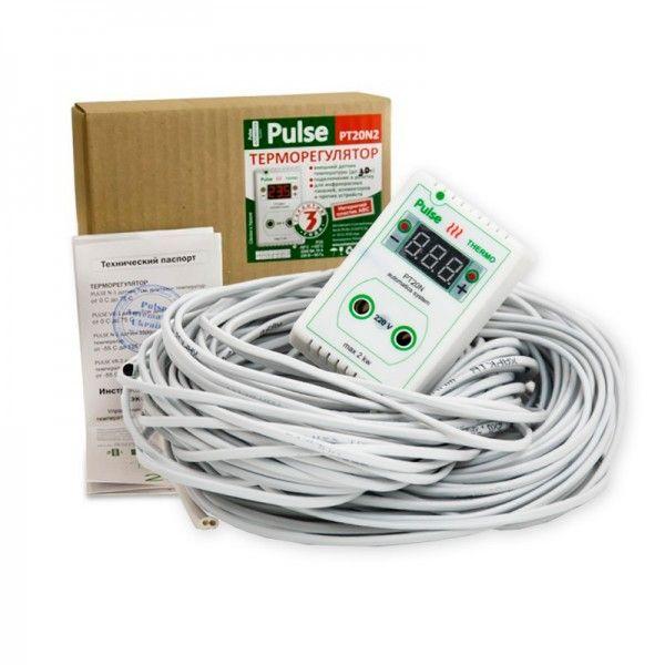 Терморегулятор для обігрівача вулика розетковий цифровий Pulse PT20N (мал 1)