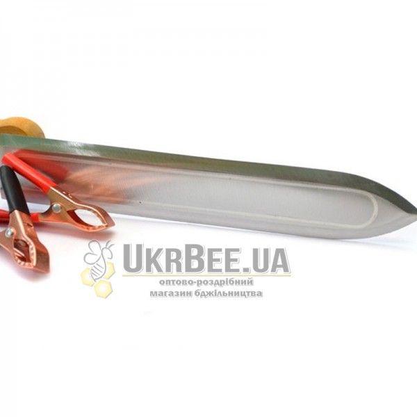 Пасечный эл.нож гуслия 12В из нержавеющей стали, 23 см