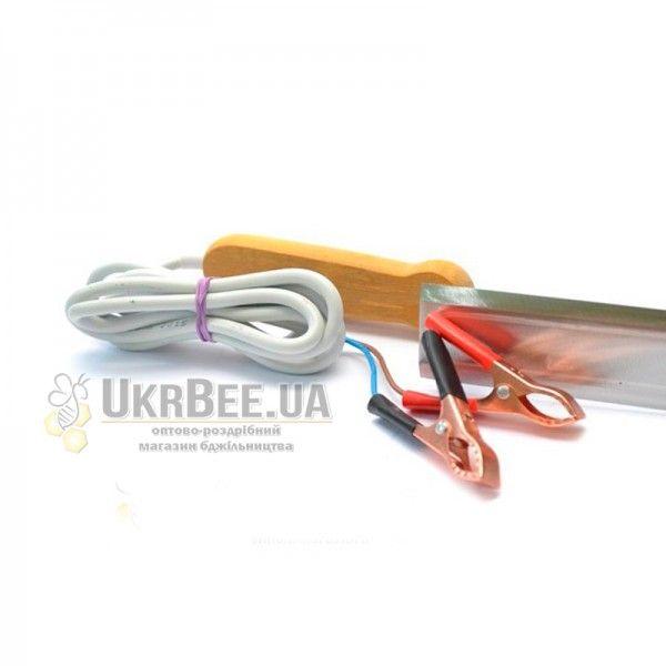 Пасечный эл.нож гуслия 12В из нержавеющей стали, 23 см (рис 3)