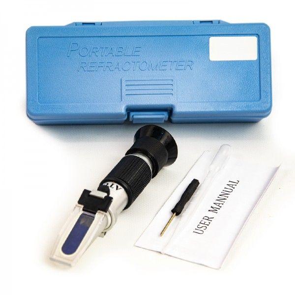 Рефрактометр для сахара (вина) в комплекте с отверткой и пипеткой для отбора материала