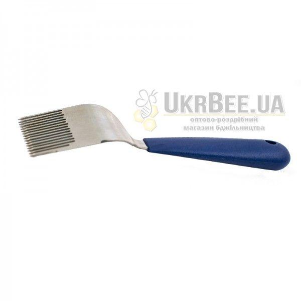 """Вилка для розпечатування сот """"Profi Strong-16"""" (синя ручка) фото 4"""