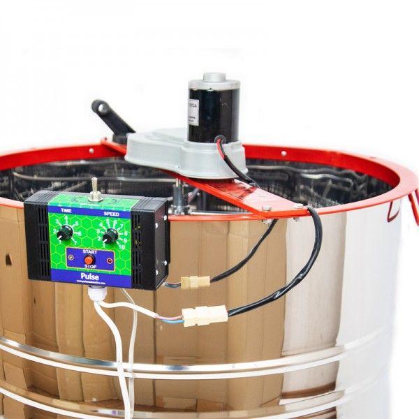 Медогонка 4-х рамкова нержавіюча з електроприводом