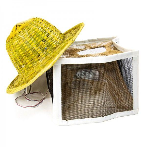 Шляпа пчеловода с металлической сеткой (верх - бамбук)