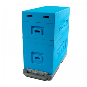 Улей из ППС Дадан для пакетов на 6 рамок, крашеный