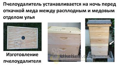 """Бджоловидаляч """"Зірка"""" для легкого вилучення бджіл з медових корпусів перед відкачуванням меду."""