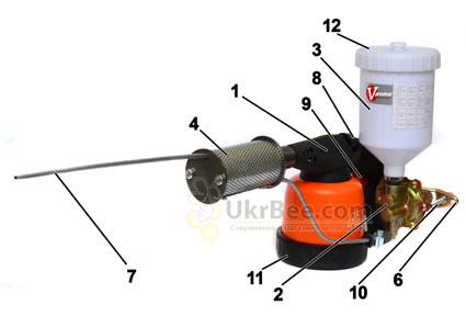 Схема Варомора - дым-пушка устройство для обработки пчел от клещей Вароа