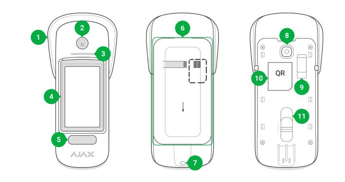 Функціональні елементи вуличного датчика MotionCam Outdoor